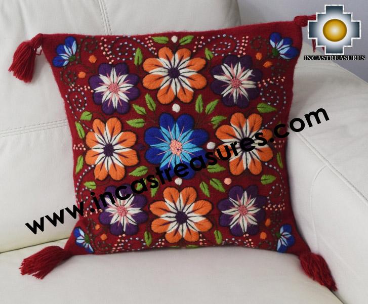 100% Alpaca Cushion Colibri red - Product id: Alpaca-cushion16-01red