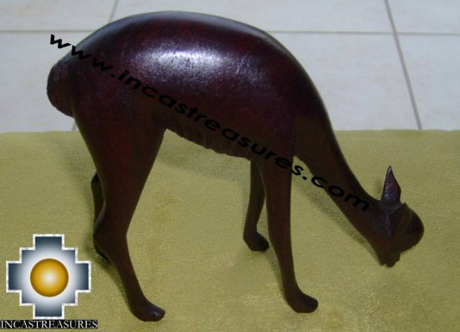 Home Decor Wood Vicuna Eating - Product id: home-decor10-01