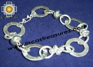 Silver jewelry Bracelet hammered Intis
