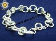 Silver jewelry Bracelet Eclipse