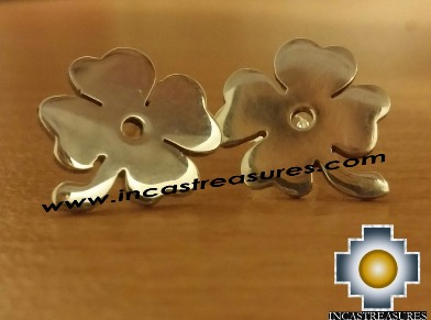 Jewelry Silver Earring Lucky Clover - Product id: Silver-Jewelry14-02 Photo01