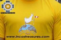 100% Pima Cotton Tshirt Llama Yellow - Product id: cotton-tshirt09-06 Photo02