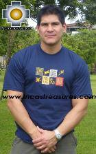 100% Pima Cotton Tshirt Nazca Blue - Product id: cotton-tshirt09-10 Photo03