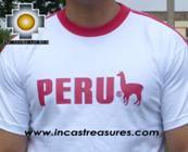 100% Pima Cotton Tshirt Peru White - Product id: cotton-tshirt09-26 Photo02