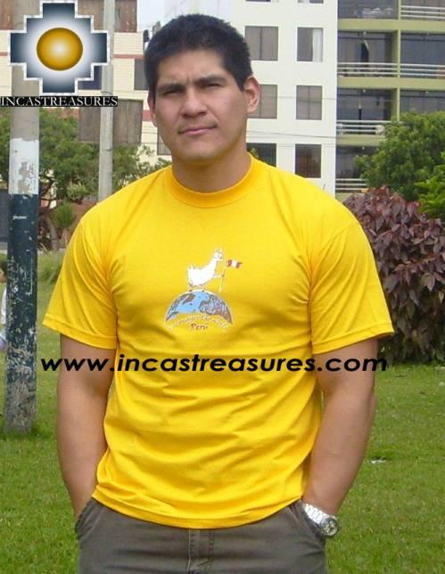 Cotton Tshirt -  Llama Yellow