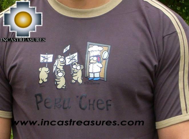 100 pima cotton t shirt peru cheff free shipping for Peruvian cotton t shirts