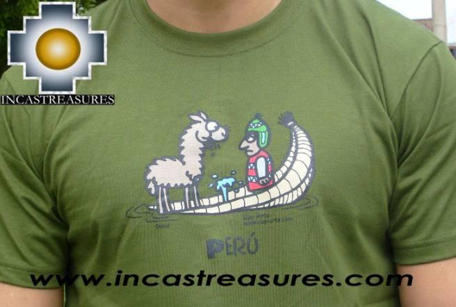 100 pima cotton t shirt peru lake free shipping for Peruvian cotton t shirts