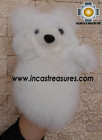 Alpaca Puppet Teddy Bear Selva - 100% Baby Alpaca - Product id: PUPPET16-01 Photo02