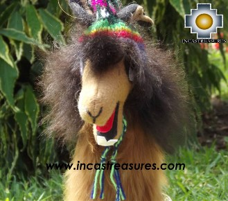 Alpaca Stuffed animal Julieta llama - 100% Baby Alpaca - Product id: TOYS13-02 Photo04