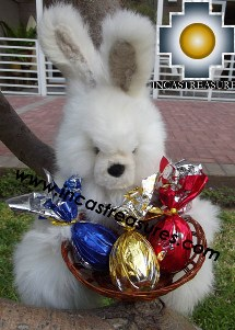 Alpaca stuffed easter bunny chocolate eggs - 100% Baby Alpaca - Product id: TOYS12-06 Photo04