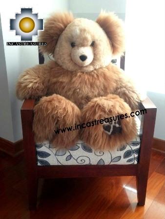 Alpaca Stuffed Teddy Bear Giant Okoshi - 100% Baby Alpaca , photo 02