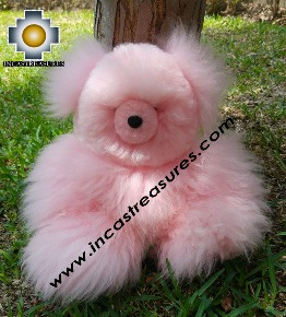 Alpaca Stuffed animal Pinky - 100% Baby Alpaca