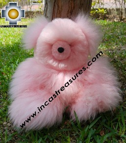 Baby Alpaca Teddy Bear PINKY - 100% Baby Alpaca