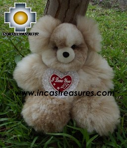 Alpaca stuffed teddy bear valentines day - 100% Baby Alpaca - Product id: TOYS12-05 Photo05