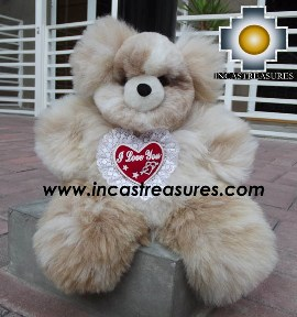Alpaca stuffed teddy bear valentines day - 100% Baby Alpaca - Product id: TOYS12-05 Photo03