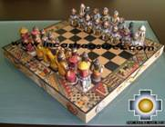 Big wooden classic Chess Set - 100% handmade - Product id: toys08-64chess, photo 02