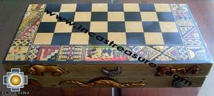 Big wooden classic Chess Set - 100% handmade - Product id: toys08-64chess, photo 01