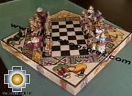 Big wooden royal Chess Set - 100% handmade - Product id: toys08-65chess, photo 03
