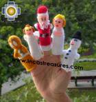 Hand-Knit finger puppet  christmas Special- Product id: TOYS08-42, photo 01