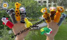 Hand-Knit finger puppet  wild-animals Special- Product id: TOYS08-45, photo 01