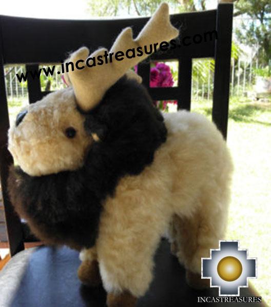 Alpaca Stuffed Animal Moose Pufi - 100% Baby Alpaca