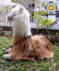 Peruvian Andes Llama Peluca - 100% Baby Alpaca Suri