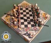Big wooden royal Chess Set - 100% handmade - Product id: toys08-67chess, photo 03