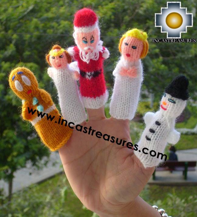 Hand-Knit finger puppet  christmas Special- Product id: TOYS08-42