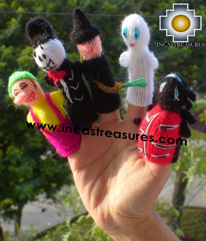 Hand-Knit finger puppet  Halloween Special- Product id: TOYS08-41