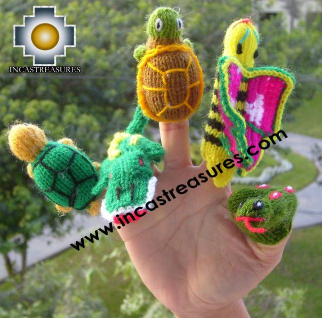 Hand-Knit finger puppet  jungle Special- Product id: TOYS08-43