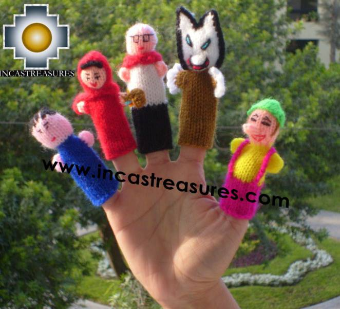 Little Red Riding Hood Special , hand-knit finger puppets