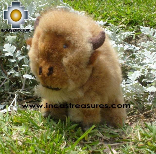 Alpaca Stuffed Animal Buffalo cuernitos - Product id: TOYS08-58 Photo04