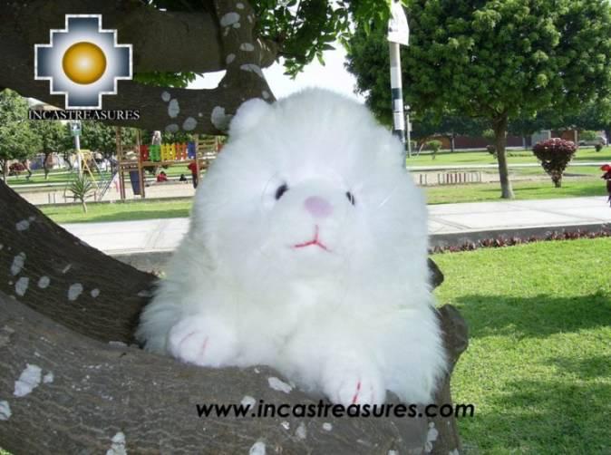 "Adorable White Big cat ""BOB THE CAT"" alpaca stuffed animal"