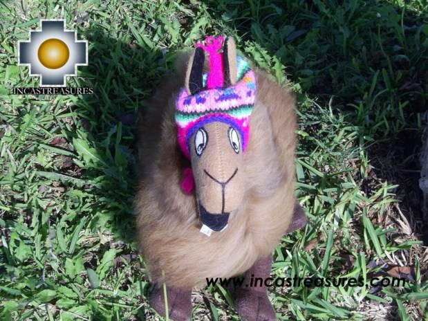 Happy brown llama - PONCHO - big