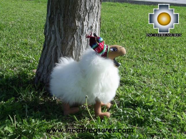 Happy white llama -CUZCO big - alpaca stuffed animal
